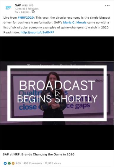 SAP video NRF 2020