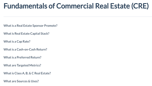 CrowdStreet: Fundamentals of Commercial Real Estate