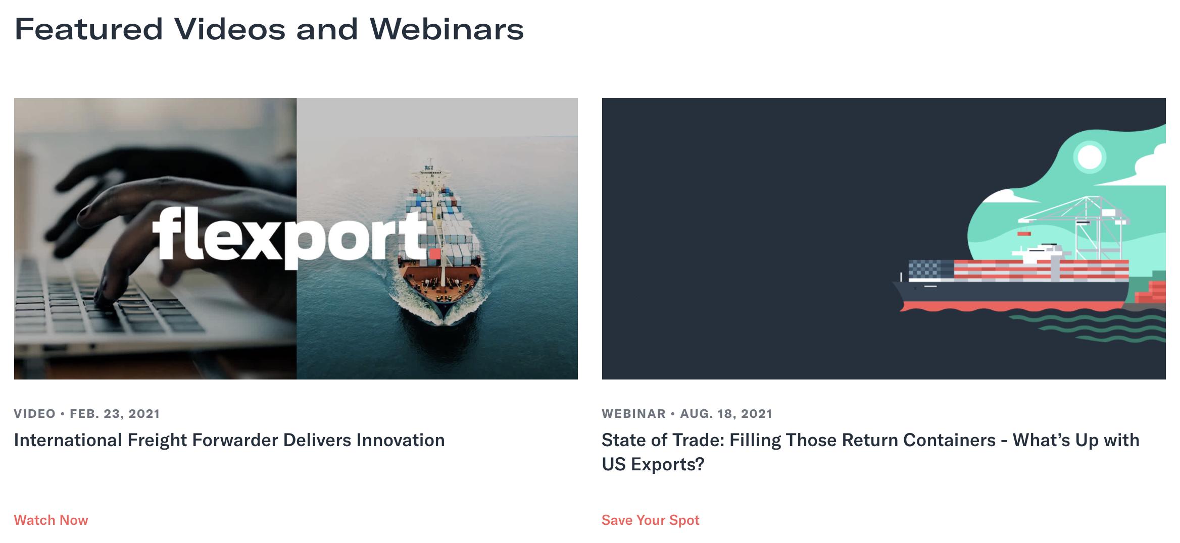 Flexport Webinars