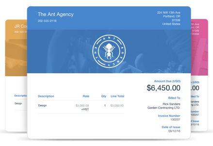 FreshBooks invoice template example