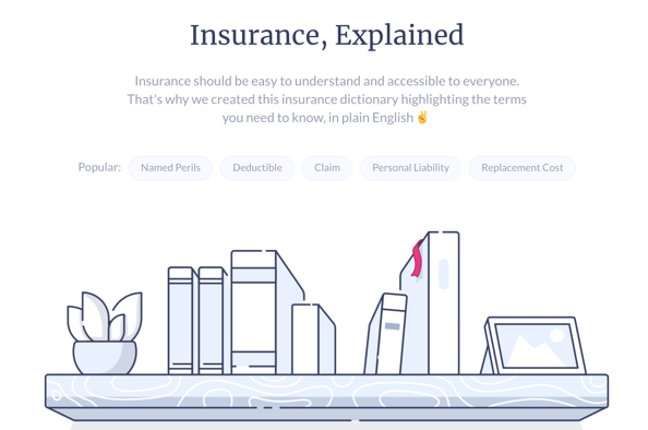 Lemonade Insurance Dictionary