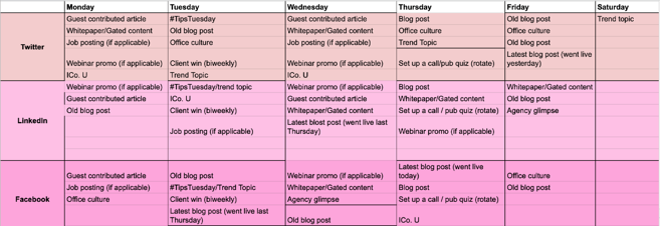 Social Schedule