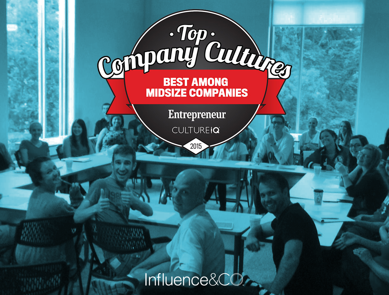 Influence & Co. Named Among 2015's Best Company Cultures by Entrepreneur