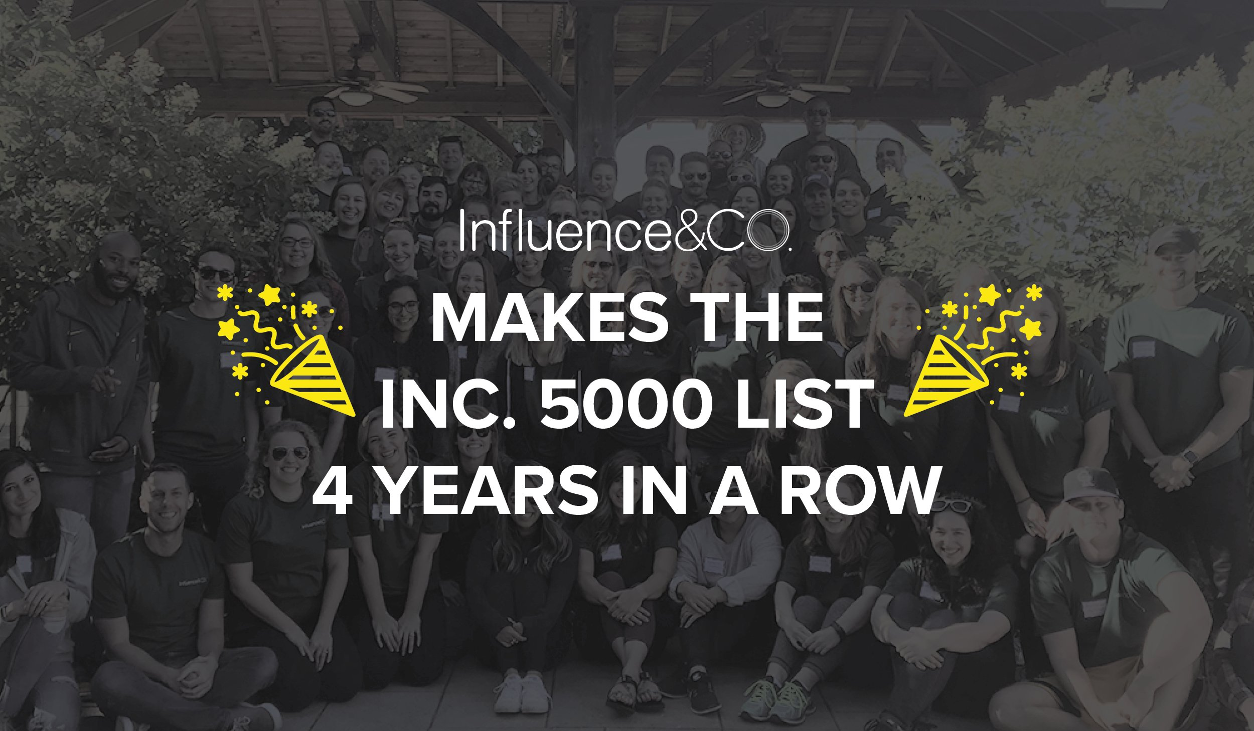 Influence & Co. Makes the Inc. 5000 List of Fastest-Growing Companies Four Years in a Row